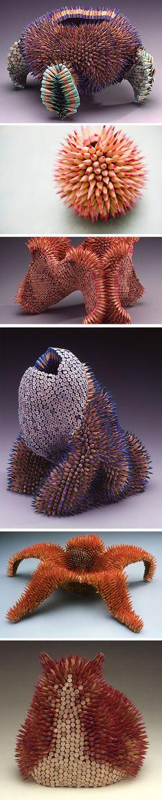 Sculptures colorées et organiques de Jennifer Maestre