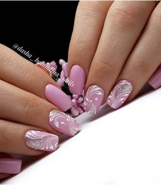 New Nail Art Best Nail Art Designs Tutorial (Beauty&Ideas Nail Art) Fancy Nails, Pink Nails, Cute Nails, Pretty Nails, Hair And Nails, My Nails, Plaid Nails, Bride Nails, Wedding Nails