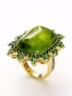 peridot and tsavorite ring