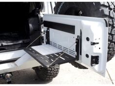 Fold down table for the jeep.