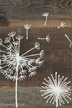 image/ hand painted on distressed wood