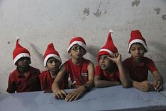 Merry Christmas! Blind children wait to perform during Christmas celebrations at the Devnar School for the Blind in Hyderabad, India on Dec. 18, 2013 - Found via Buzzfeed