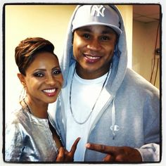 Veteran Hip Hop Rappers MC Lyte and LL Cool J