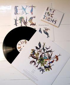 Extinctions: Burning Hearts Album Cover by Emil Bertell | Inspiration Grid | Design Inspiration
