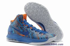 Discounts Nike Zoom KD 5 iD Offers New Graphic Pattern Blue Glow Midnight Navy