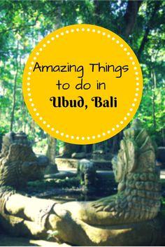 Amazing Things to do in Ubud Bali #travel #travelguide #bali