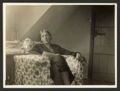 Virginia Woolf, dreaming, at home in Monk's House, Sussex, 1939.