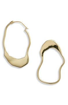 Ellery Bacno Outline Mismatched Earrings | Nordstrom Outline, Nordstrom, Hoop Earrings, Bracelets, Gold, Accessories, Jewelry, Surrealism, Plate