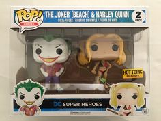 Funko POP! DC Heroes 2-Pack JOKER BEACH & HARLEY QUINN Hot Topic Exclusive NEW | eBay