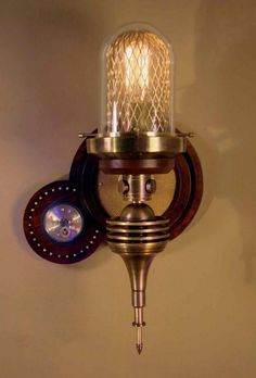 Steampunk Lamp. This would go nice in my lounge!