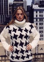 KK163 Houndstooth Turtleneck Yarn Store, Houndstooth, Turtleneck, Christmas Sweaters, Knitwear, Design, Fashion, Moda, Tricot