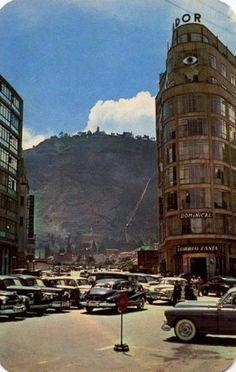 "Historia en Imágenes on Twitter: ""Avenida Jiménez con carrera cuarta. Bogotá 1954… "" Colombia Travel, American Country, Time Travel, Big Ben, Vintage Photos, Travel Inspiration, Tours, Landscape, City"