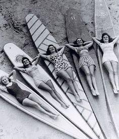 Vintage Sydney surfer chicks #MBFWA