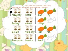 Bunny Bop - original springtime song with a carrot-bopping game - for kinder/first