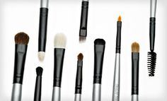 Groupon - $12 for a Beaute Basics Five-Piece Eye-Makeup Brush Kit with a Vinyl Case ($59.95 List Price) in Online Deal. Groupon deal price: $12.00