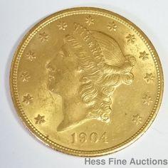 1904 Double Coronet Eagle $20 Twenty Dollar American US Gold Coin