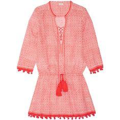 Talitha Shyla printed cotton and silk-blend voile mini dress (550 CAD) ❤ 633d58fb6