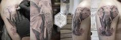 elephant realistic tattoo