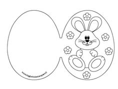 Can make the card shape & kids can decorate Spring Coloring Pages, Easter Colouring, Happy Easter, Easter Bunny, Easter Eggs, Easter Card, Easter Activities, Easter Crafts For Kids, Easter Printables