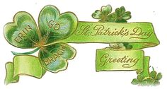 Sweetly Scrapped: St. Patrick's Day Vintage Images + Clipart