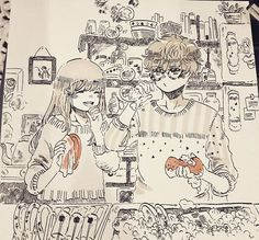 I actually made a few #inktober ...but I barely have any time to upload them. (Prays to god so i can pass this semester in my human shape)  #mysticmessenger #lucielchoi #saeyoungchoi #707 #marker #ink