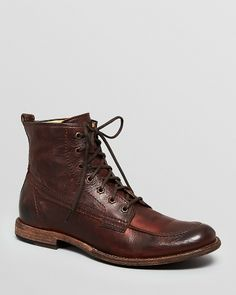 Frye Leather Work Boots - Phillip on shopstyle.com