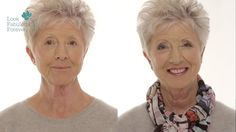 MakeUp for Older Women: Define Your Eyes and Lips by Look Fabulous Forever. -A very nice and professionally done video of how to apply makeup on a woman with gray or white hair especially. I liked it a lot.