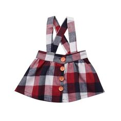 NEW Newborn Baby Girl Princess Plaid Straps Skirts Summer Overall Skirt Outfits Casual Style Very Short Dress, Overall Skirt, Baby Girl Princess, Princess Wedding, Suspender Dress, Toddler Girl Dresses, Girl Skirts, Plaid Skirts, Plaid Dress