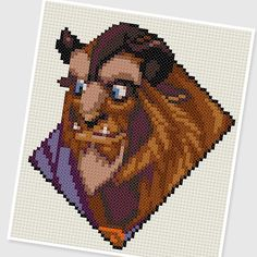 PDF Cross Stitch pattern - 0023.Beast ( Beauty and the Beast ) - INSTANT DOWNLOAD