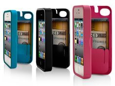EYN Case for iPhone : Holds three bank cards and cash