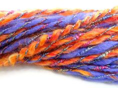 Handspun Art Yarn from a Fiber Art Batt 325 by ladypainswick, $24.00