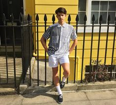 Gianluca from our Camden store wearing the Rayon Short Sleeve Shirt and Slater Short, both in our summer sale, make sure you check it out!