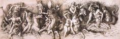 Andrea Mantegna (c. 1431–1506): Zuffa di dei marini (Battle of the Sea Gods), 1475, engraving