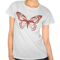 Brown and Pink Butterfly Shirt