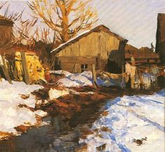 Russian Painting, Russian Art, Winter Landscape, Landscape Paintings, Small Paintings, Art Techniques, Traditional Art, Impressionist, Painting Inspiration