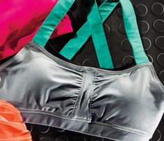 Cool Sports Bras: The fabric gathers in the center, giving you shape rather than flattening your boobs into pancakes the way many sports bras do. #SelfMagazine