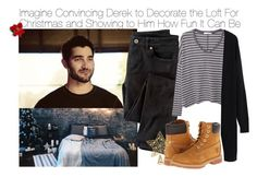 """""""Imagine Convincing Derek to Decorate the Loft For Christmas and Showing to Him How Fun It Can Be"""" by fandomimagineshere ❤ liked on Polyvore featuring Wrap, MANGO, Timberland, women's clothing, women's fashion, women, female, woman, misses and juniors"""