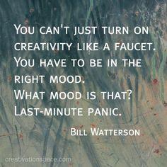 Creative inspiration - last minute panic