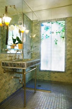 I don't like this room, but I ADORE the mermaid scale tile! Such a cute idea!