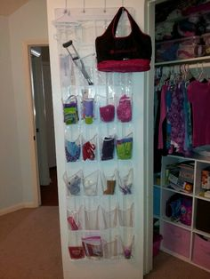 American Girl: Shoe organizer (about $15) for American Girl doll clothes and accessory storage. Better than the expensive AG one !