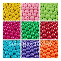 Hottest 18mm Acrylic Solid beads,Shinning Multicolor Acrylic chunky Pure beads for DIY Bubblegum Jewelry!145pcs a lot!Free ship! on AliExpress.com. $15.24