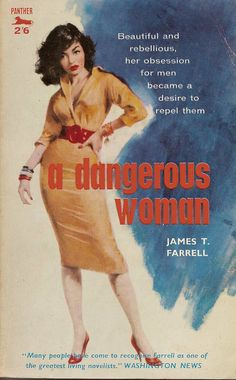 artist unknown: A Dangerous Woman by James T. Farrell/ Panter 954, 1959