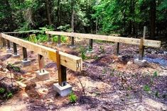 How to: Build a Rock Solid, Low Cost Off Grid Cabin Foundation shed design shed diy shed ideas shed organization shed plans garden plans Building A Small Cabin, Small Cabin Plans, Building A Shed, Building Ideas, Pier And Beam Foundation, House Foundation, Shed Construction, Framing Construction, Laying Decking