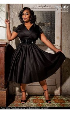 Pinup Couture - Birdie Party Dress in Black - Plus Size | Pinup Girl Clothing