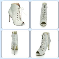 HOST PICK 7.8.15White Timeless Boots IF U ARE INTERESTED TO PURCHASE PLEASE LET ME KNOW SO I CAN MAKE A SEPARATE ORDER. WHITE Size=5 1/2; 6; 7; 7; 7 1/2; 8 1/2; 10 .BLACK Size= 5 1/2; 6 1/2; 6 1/2; 7; 8 1/2; 9; 10 .The heel is 4inches.  ❌No Trade ❌No Pay Pal ❌NO LOW BALLERS Price is Firm unless Bundled Every Bundle Comes with a Gift Accepting Reasonable Offers Eye Candie Shoes