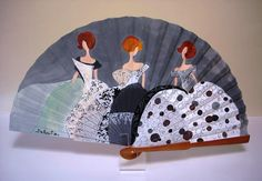 abanicos pintados a mano - Buscar con Google Fan Decoration, Art Decor, Painted Fan, Hand Painted, Hand Held Fan, Hand Fans, Antique Fans, Vintage Umbrella, Wedding Fans