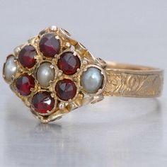 Antique Georgian Garnet Ring