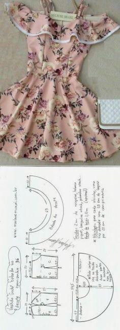 Dress pattern sewing design new Ideas Diy Clothing, Sewing Clothes, Doll Clothes, Dress Sewing Patterns, Clothing Patterns, Pattern Sewing, Pattern Dress, Fashion Sewing, Diy Fashion
