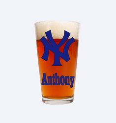 New York Yankees-Yankees Beer Glass-Personalized Yankees Gifts-Personalized MLB Gifts-Fathers Day-Groomsmen Gifts-Yankees Mug by FromAtoZbyTami on Etsy
