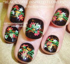 Nail-art by Robin Moses - Japanese flower garden 2